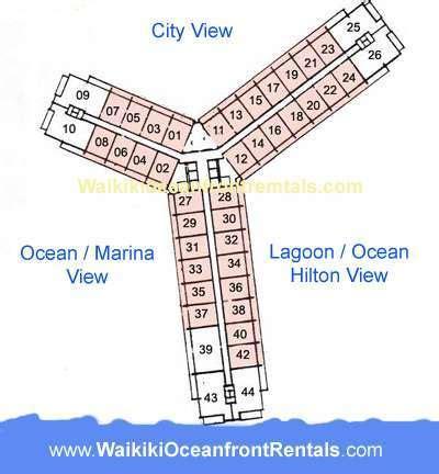 ilikai hotel floor plan waikikibeachrentals com superior ocean marina views condo