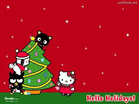 hello kitty holiday wallpaper hello kitty christmas background wallpapersafari