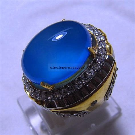 Spirtus Baturaja batu permata biru langit spirtus baturaja cincinpermata