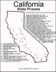 prisons california map california s crowded prisons