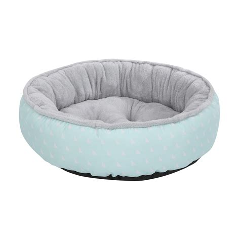 pet beds round plush pet bed triangle print medium kmart