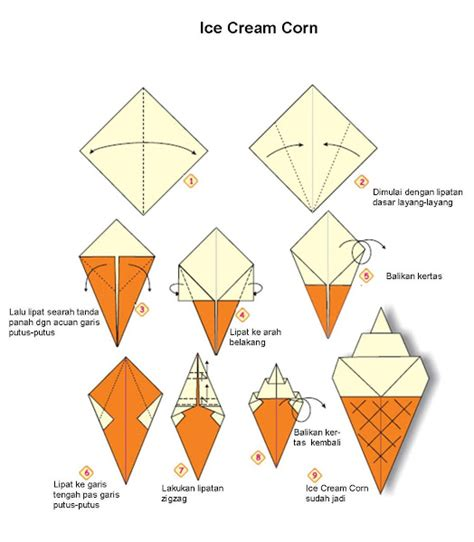 gambar cara membuat origami 3d ragam origami