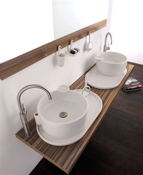 bathroom basin countertop wall mounted double washbasin cabinet ukiyo e interiorzine