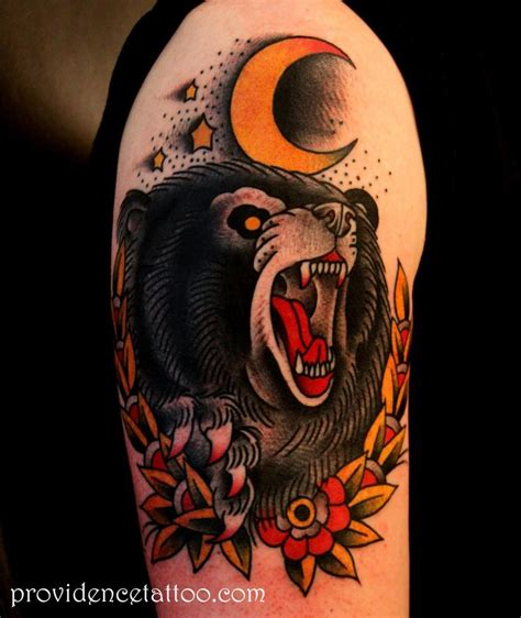 black bear tattoo designs traditional ideas school