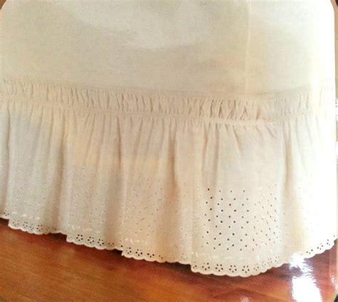 wrap around bed skirt wrap around eyelet bed ruffle skirt ebay