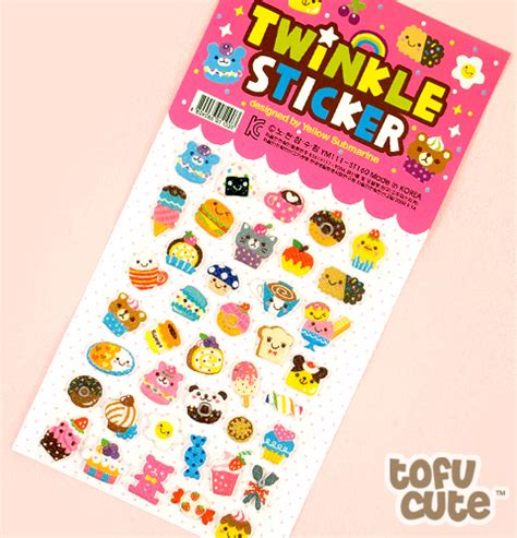 Tayo Tayo Sticker Puding Bento Lolipop buy kawaii food with faces twinkle stickers pink at tofu