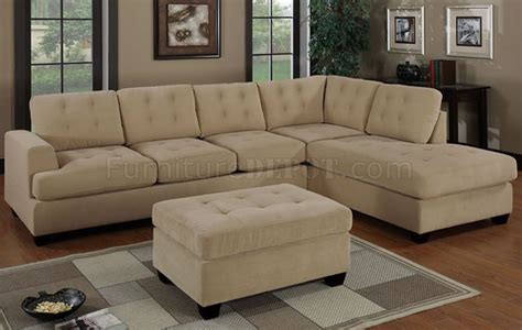 Suede Sectional Sofa by Khaki Waffle Suede Tufted Reversible Sectional Sofa