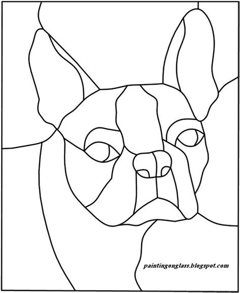 stained glass templates stained glass patterns stained glass bostonterrier