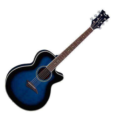 blue dean disc dean performer electric acoustic guitar blue burst