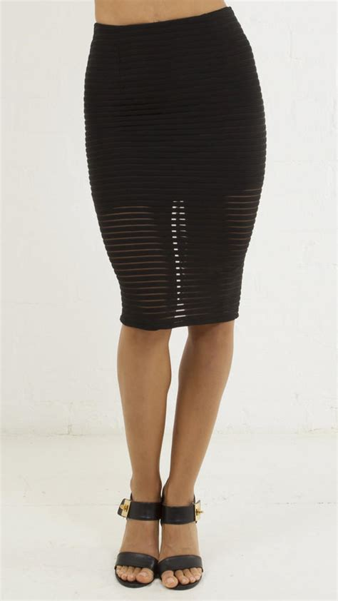 Glitter Home Decor by See Through Striped Pencil Skirt From Angl Bottoms
