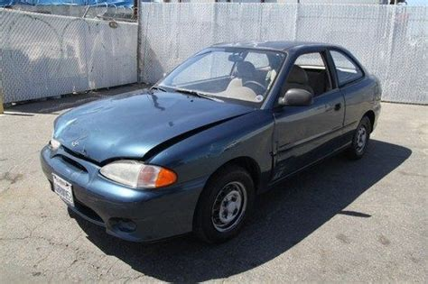 buy used 1999 hyundai accent l manual 4 cylinder no reserve in orange california united states