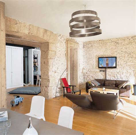 muretti interni ristrutturare una casa valorizzare i muri in pietra