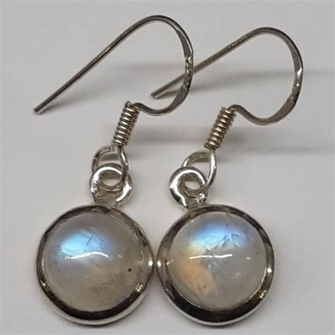 rainbow moonstone silver earrings rockncrystals au