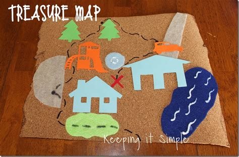 Map Craft Paper - keeping it simple treasure map summer activity