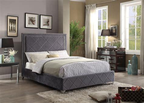 velvet upholstered bed hton upholstered bed in grey velvet fabric w options