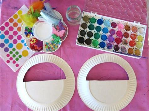 Things To Make With Paper Plates - make a pretty paper plate bag kidspot