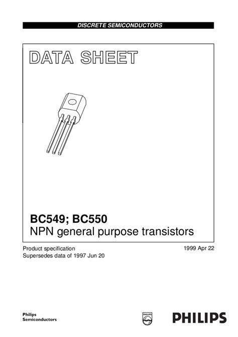 transistor data sheet book bc549 bc550 transistor data sheet of philips