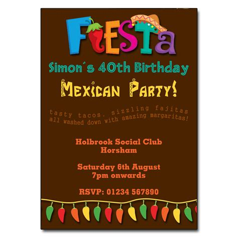 Mexican Fiesta Party Invitations The Invitation Boutique Mexican Invitation Template