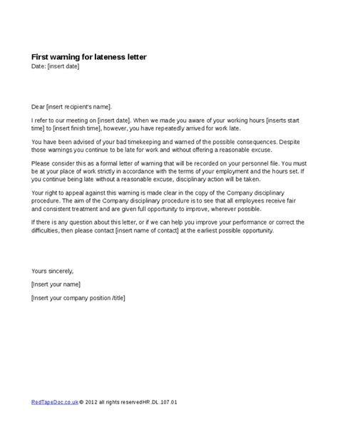 Credit Warning Letter Warning Letter Template