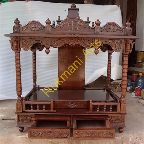 code 77 wooden carved teakwood temple mandir furniture