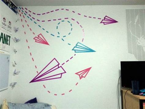 Wall Mural Painting Ideas 20 diy washi tape wall art ideas