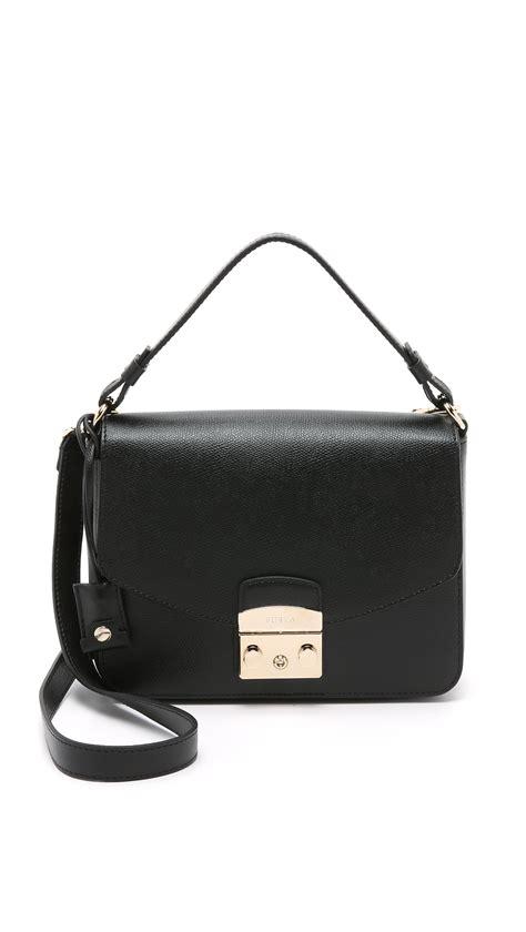 Murah Furla Metropolis Shoulder Denim furla metropolis small shoulder bag in black lyst
