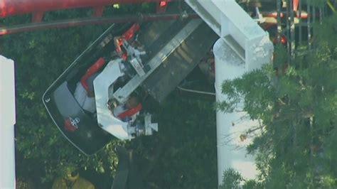 theme park accidents 2017 national theme park news ninja derails at six flags magic
