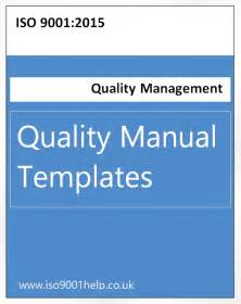 quality manual template iso templates