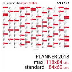 Calendario 2018 Feste Calendario 2018 Planner Planning Da Muro Standard O Maxi