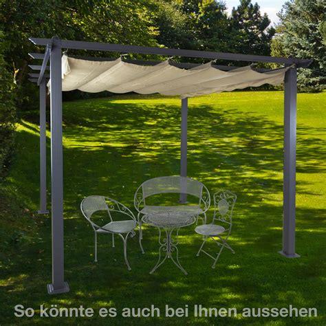 Alu Pergola Garten Sonnenschutz Freiburg Beige
