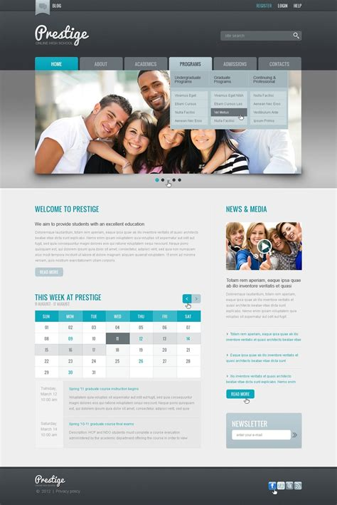html templates for education website education website template 37458