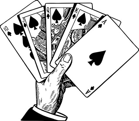 library  winning poker clip black  white library png