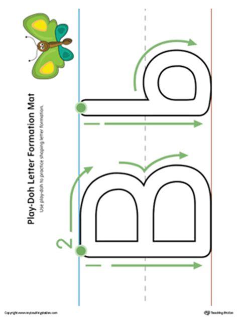 alphabet letter formation letter b do a dot worksheet color myteachingstation