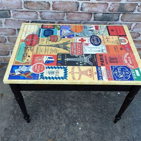 Decoupage Wood Table - hometalk decoupage plain table for a new look