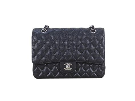 Chanel Pouch Series 09nc1120 chanel 2 55 series classic flap bag 1112 black cannage pattern original leather silver chanel
