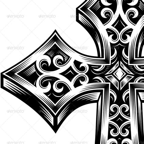 ornate celtic cross vector by vectorfreak graphicriver