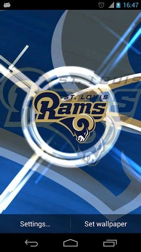 st louis rams live free st louis rams live wallpaper app for android