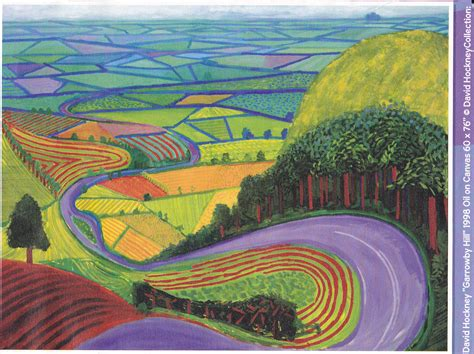 Landscape Pictures By David Hockney Pics For Gt David Hockney Landscape Drawings