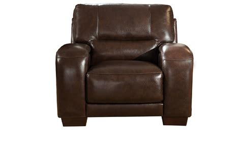 Grain Leather Chair by Brigitte Top Grain Brown Leather Chair