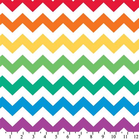 zig zag rainbow pattern rainbow chevron cotton print