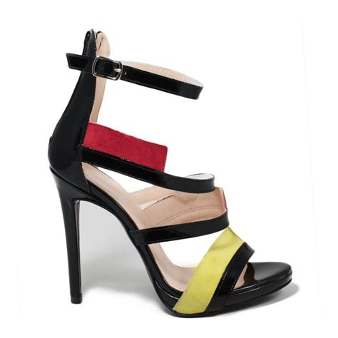 black patent high heel sandals high heel sandals in black patent leather made italy