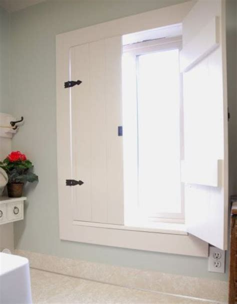 exceptional Small Half Bath Ideas #3: 05-farmhouse-style-wooden-shutters-painted-white.jpg