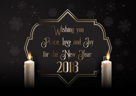 elegant happy  year background  candles vector