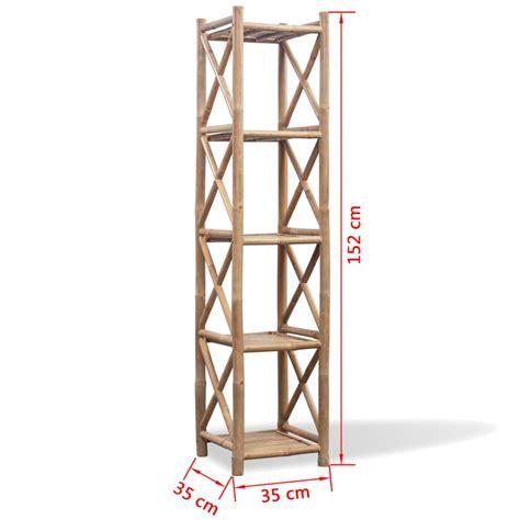 scaffali legno scaffale a 5 piani in legno di bamb 249 vidaxl it
