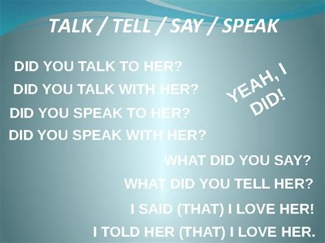 Tell Them To Talk To The With The Optical Finger Mouse by Differences Between Say Tell Speak And Talk