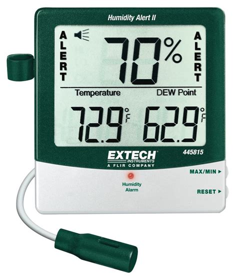 House Humidity Meter Extech 445815 Humidity Meter With Alarm And