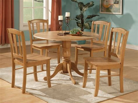 5pc Round Dinette Kitchen Dining Set Table And 4 Chairs Ebay Table And Chair Sets For Kitchen