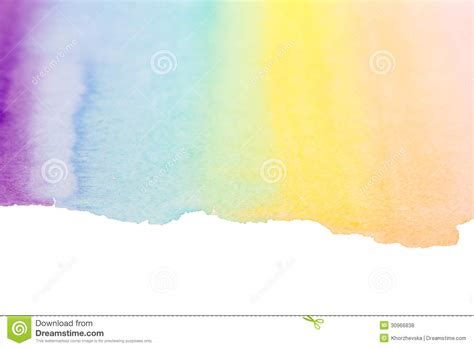rainbow watercolor art background royalty free stock