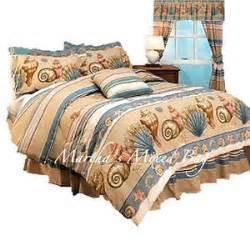 Tropical sea shell beige comforter set beach coastal twin full queen