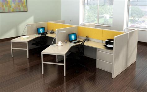 Rsi Home Products Cabinets Curved L Shape Cubicle Desk Workstations Madison Liquidators